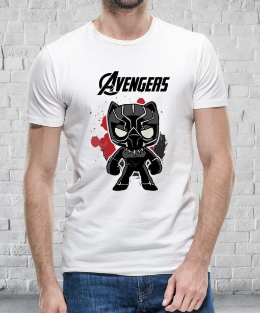 T-shirt Little Black Panther homme